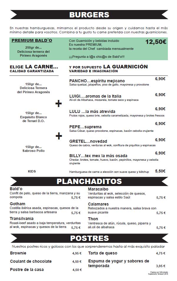 Hamburguesas excepcionales Restaurante Zaragoza