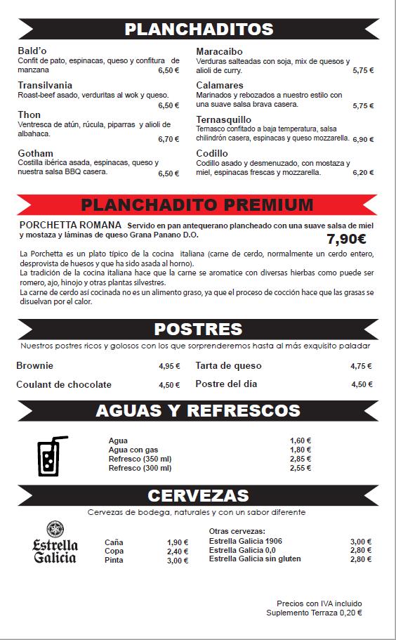 Bocadillos, cenas, postres, Restaurante Zaragoza Puerto Venecia
